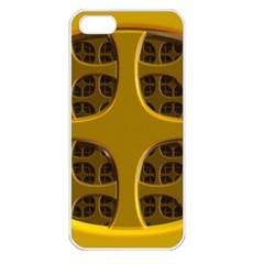 Golden Fractal Window Apple iPhone 5 Seamless Case (White)