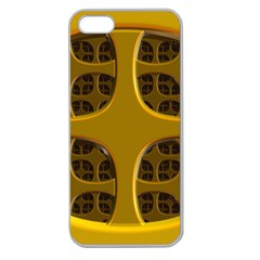 Golden Fractal Window Apple Seamless iPhone 5 Case (Clear)