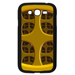 Golden Fractal Window Samsung Galaxy Grand DUOS I9082 Case (Black)