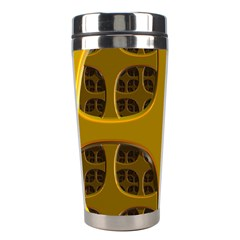 Golden Fractal Window Stainless Steel Travel Tumblers