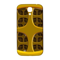 Golden Fractal Window Samsung Galaxy S4 I9500/i9505  Hardshell Back Case