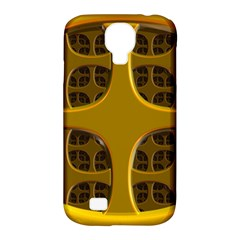 Golden Fractal Window Samsung Galaxy S4 Classic Hardshell Case (PC+Silicone)