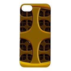 Golden Fractal Window Apple Iphone 5s/ Se Hardshell Case