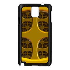 Golden Fractal Window Samsung Galaxy Note 3 N9005 Case (Black)