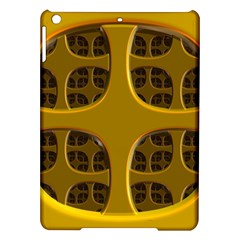 Golden Fractal Window iPad Air Hardshell Cases