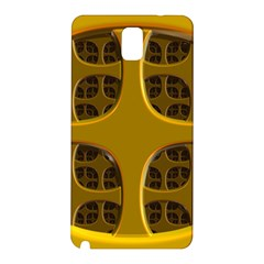Golden Fractal Window Samsung Galaxy Note 3 N9005 Hardshell Back Case