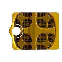 Golden Fractal Window Kindle Fire Hd (2013) Flip 360 Case