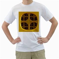 Golden Fractal Window Men s T-Shirt (White)