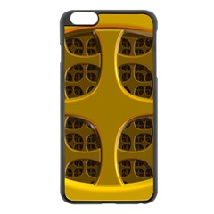 Golden Fractal Window Apple iPhone 6 Plus/6S Plus Black Enamel Case
