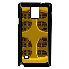 Golden Fractal Window Samsung Galaxy Note 4 Case (black)