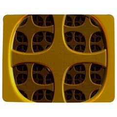 Golden Fractal Window Jigsaw Puzzle Photo Stand (Rectangular)