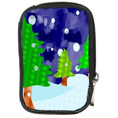 Christmas Trees And Snowy Landscape Compact Camera Cases
