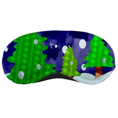 Christmas Trees And Snowy Landscape Sleeping Masks