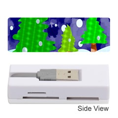 Christmas Trees And Snowy Landscape Memory Card Reader (stick)