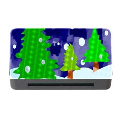 Christmas Trees And Snowy Landscape Memory Card Reader with CF
