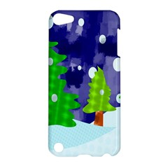 Christmas Trees And Snowy Landscape Apple iPod Touch 5 Hardshell Case