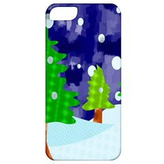 Christmas Trees And Snowy Landscape Apple Iphone 5 Classic Hardshell Case