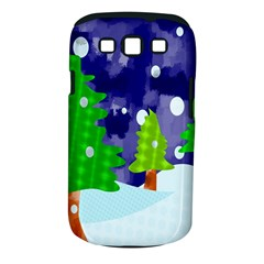 Christmas Trees And Snowy Landscape Samsung Galaxy S Iii Classic Hardshell Case (pc+silicone)