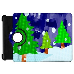 Christmas Trees And Snowy Landscape Kindle Fire HD 7