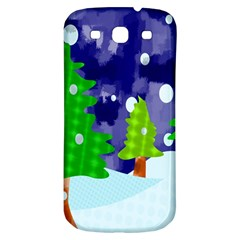 Christmas Trees And Snowy Landscape Samsung Galaxy S3 S III Classic Hardshell Back Case