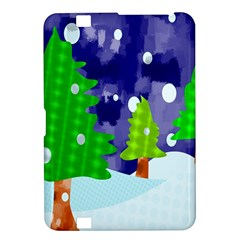 Christmas Trees And Snowy Landscape Kindle Fire HD 8.9