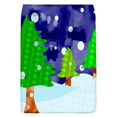 Christmas Trees And Snowy Landscape Flap Covers (L)
