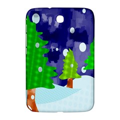 Christmas Trees And Snowy Landscape Samsung Galaxy Note 8.0 N5100 Hardshell Case
