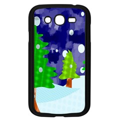 Christmas Trees And Snowy Landscape Samsung Galaxy Grand Duos I9082 Case (black)