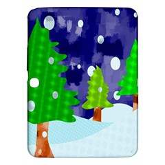 Christmas Trees And Snowy Landscape Samsung Galaxy Tab 3 (10.1 ) P5200 Hardshell Case