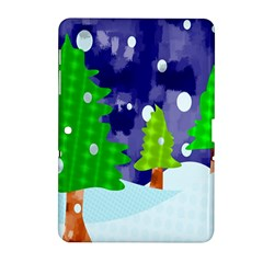 Christmas Trees And Snowy Landscape Samsung Galaxy Tab 2 (10.1 ) P5100 Hardshell Case