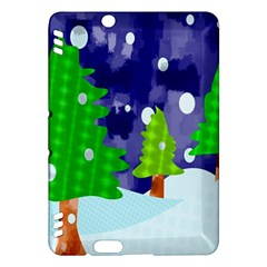Christmas Trees And Snowy Landscape Kindle Fire Hdx Hardshell Case