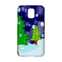 Christmas Trees And Snowy Landscape Samsung Galaxy S5 Hardshell Case