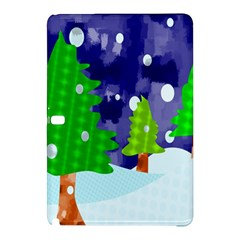 Christmas Trees And Snowy Landscape Samsung Galaxy Tab Pro 12 2 Hardshell Case