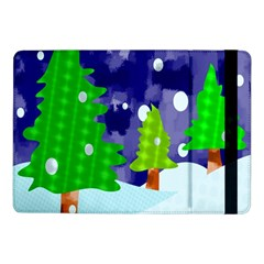 Christmas Trees And Snowy Landscape Samsung Galaxy Tab Pro 10.1  Flip Case