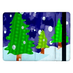 Christmas Trees And Snowy Landscape Samsung Galaxy Tab Pro 12.2  Flip Case