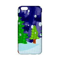 Christmas Trees And Snowy Landscape Apple iPhone 6/6S Hardshell Case