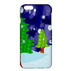 Christmas Trees And Snowy Landscape Apple iPhone 6 Plus/6S Plus Hardshell Case