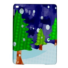 Christmas Trees And Snowy Landscape iPad Air 2 Hardshell Cases