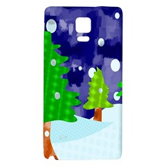 Christmas Trees And Snowy Landscape Galaxy Note 4 Back Case