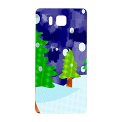 Christmas Trees And Snowy Landscape Samsung Galaxy Alpha Hardshell Back Case
