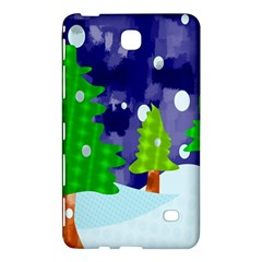 Christmas Trees And Snowy Landscape Samsung Galaxy Tab 4 (8 ) Hardshell Case