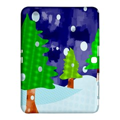 Christmas Trees And Snowy Landscape Samsung Galaxy Tab 4 (10.1 ) Hardshell Case
