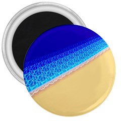Beach Sea Water Waves Sand 3  Magnets