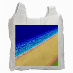 Beach Sea Water Waves Sand Recycle Bag (two Side)