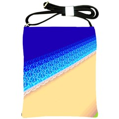 Beach Sea Water Waves Sand Shoulder Sling Bags