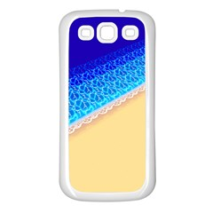 Beach Sea Water Waves Sand Samsung Galaxy S3 Back Case (white)