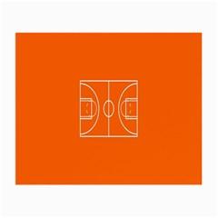 Basketball Court Orange Sport Orange Line Small Glasses Cloth