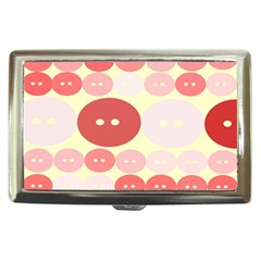 Buttons Pink Red Circle Scrapboo Cigarette Money Cases