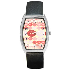 Buttons Pink Red Circle Scrapboo Barrel Style Metal Watch