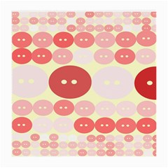 Buttons Pink Red Circle Scrapboo Medium Glasses Cloth (2 Side)
